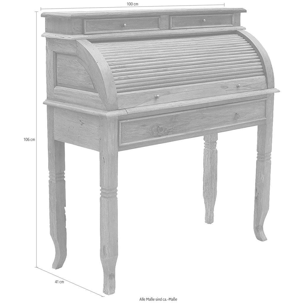 SIT Sekretär »Seadrift«, recyceltes Teak-Altholz, Breite 100 cm, Shabby Chic, Vintage