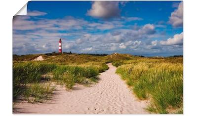 Artland Wandbild »Strandweg zum Leuchtturm - Insel Amrum«, Küste, (1 St.), in vielen... kaufen
