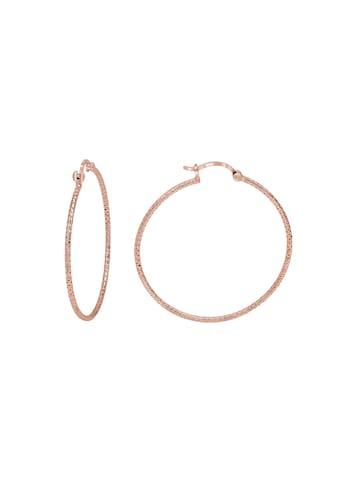 Vivance Paar Creolen »Creolen 925 Silber rotvergoldet 4,0cm«, diamantiert kaufen