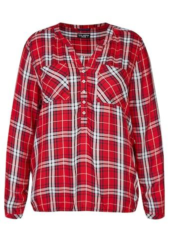 VIA APPIA DUE Luftige Bluse mit Karo - Muster Plus Size kaufen