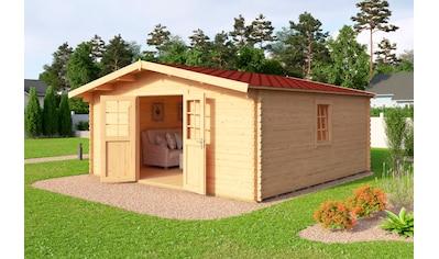 NORDIC HOLZ Set: Gartenhaus »Nienstedten 4«, BxT: 496x496 cm, inkl. Dachschindeln und Fußboden kaufen