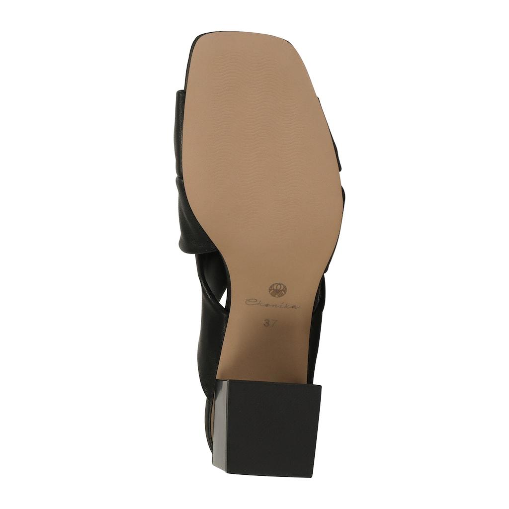 ekonika Pantolette, hergestellt aus weichem Leder