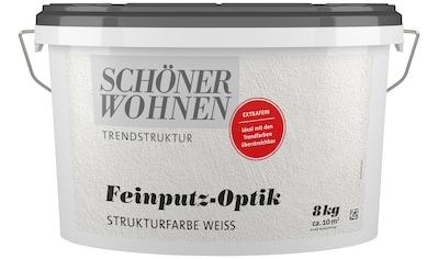 SCHÖNER WOHNEN FARBE Putzeffektfarbe »Feinputz - Optik extrafein weiss« kaufen