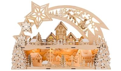HGD Holz-Glas-Design Lichterbogen Weihnachtsstern für Batterie- und Netzbetrieb kaufen