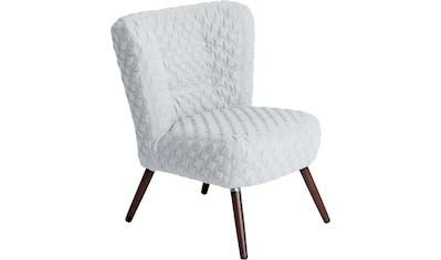 Max Winzer® Sessel »Nikki«, im Retrolook, mit gestepptem Bezug kaufen