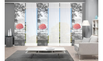 Vision Schiebegardine »AMENO 6er SET«, Bambus-Optik, Digital bedruckt kaufen