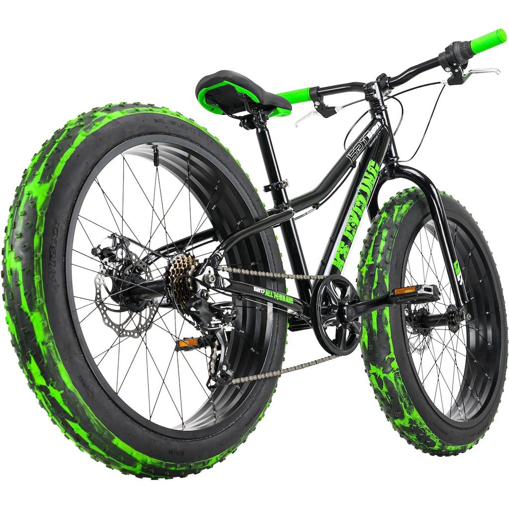 KS Cycling Fatbike »Crusher 6217«, 7 Gang, Shimano, Tourney Schaltwerk, Kettenschaltung