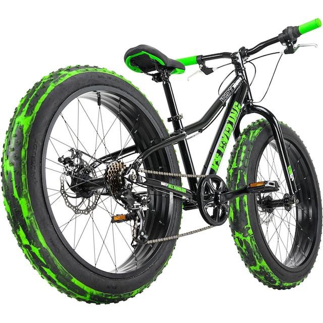 KS Cycling Fatbike »Crusher 6217«, 7 Gang Shimano Tourney Schaltwerk, Kettenschaltung