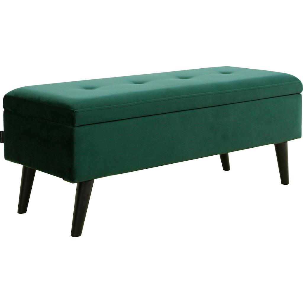 INOSIGN Bettbank »Freya«, Sitzfläche gesteppt, mit Strauraum
