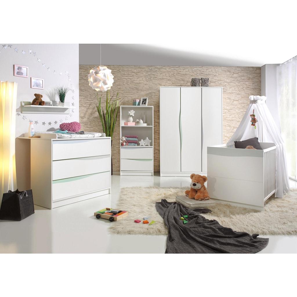 Geuther Babyzimmer-Komplettset »WAVE pastell, 3-tlg«, (Set, 3 St.), mit Kinderbett, Schrank und Wickelkommode