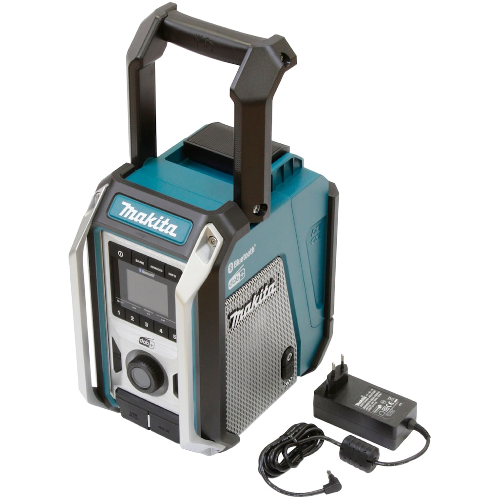 Makita Baustellenradio »DMR115«, (Bluetooth FM-Tuner-Digitalradio (DAB+) ), 12V, Bluetooth-Radio mit IP65-Gehäuseschutzklassifizierung.