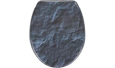 WENKO WC-Sitz »Slate Rock«, Mit Absenkautomatik kaufen
