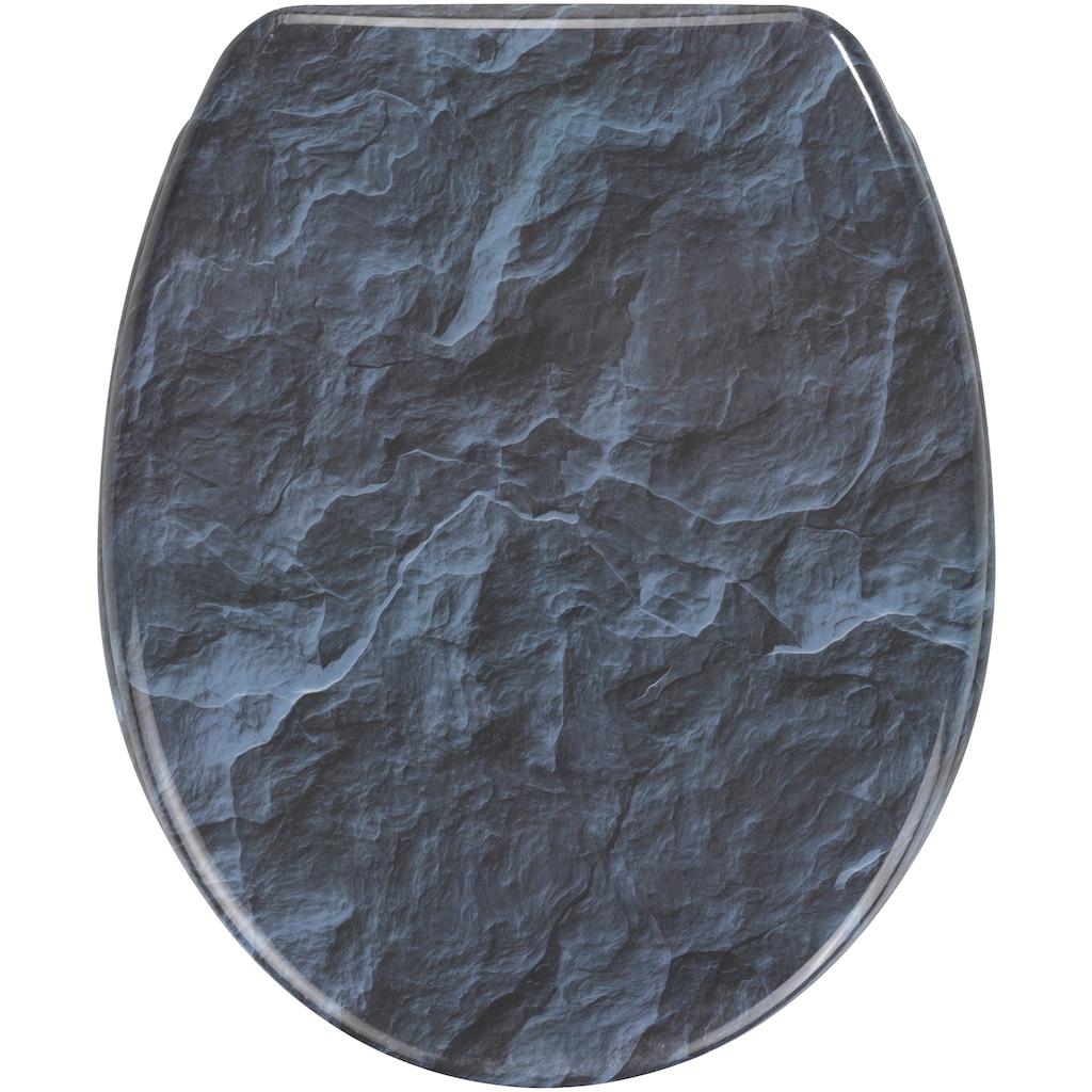 WENKO WC-Sitz »Slate Rock«, Mit Absenkautomatik