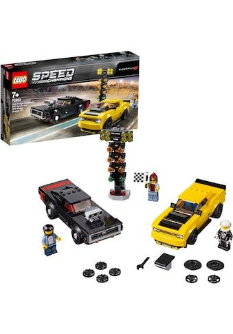 """LEGO® Konstruktionsspielsteine """"2018 Dodge Challenger SRT Demon und 1970 Dodge Charger R/T (75893), LEGO® Speed Champions"""", Kunststoff, (478 - tlg.) kaufen"""