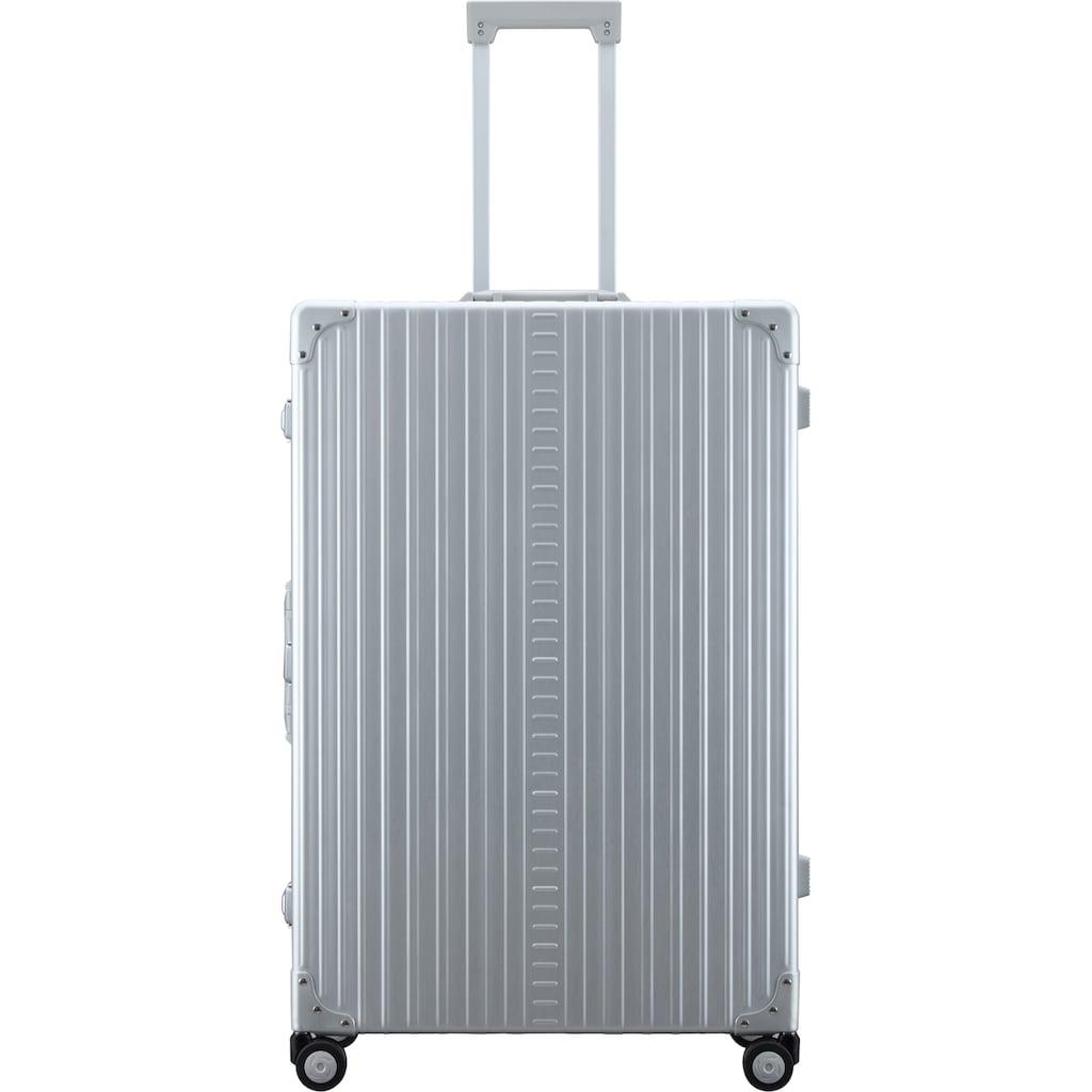 ALEON Hartschalen-Trolley »Aluminiumkoffer Macro Plus Traveler, 81 cm«, 4 Rollen, inkl. Schutzhülle