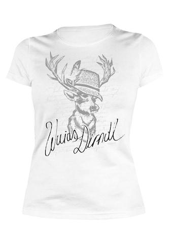 Der Trachtler T - Shirt mit lässigem Print »Wuids Dirndl Hirsch« kaufen