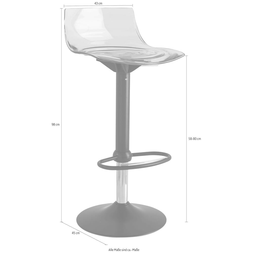 connubia Barhocker »L'Eau CB/1477_P15«, höhenverstellbar und um 360° drehbar