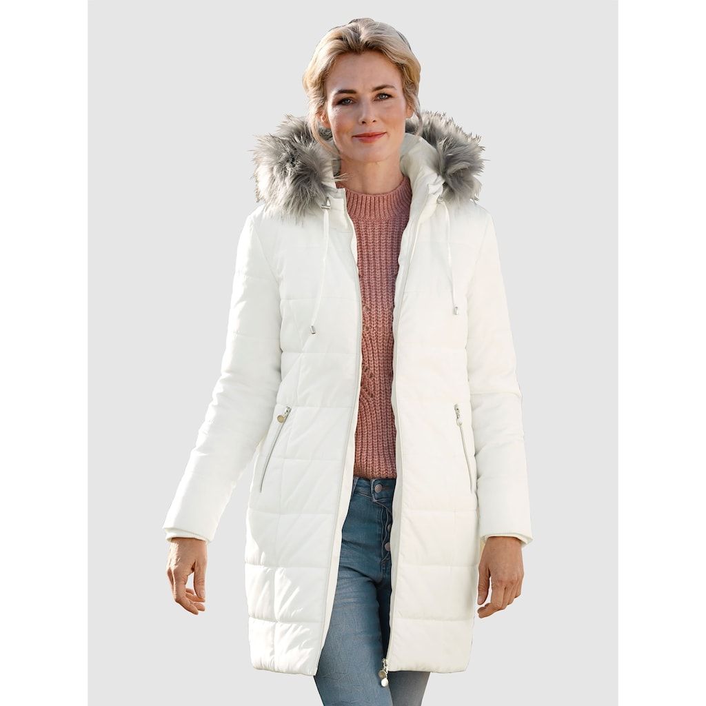 Dress In Langjacke, mit abnehmbaren Webpelz