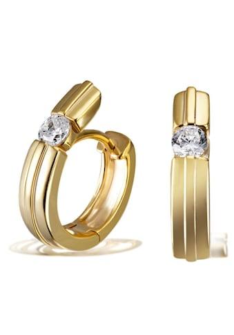 goldmaid Paar Creolen 925/- Sterlingsilber 2 Zirkonia kaufen