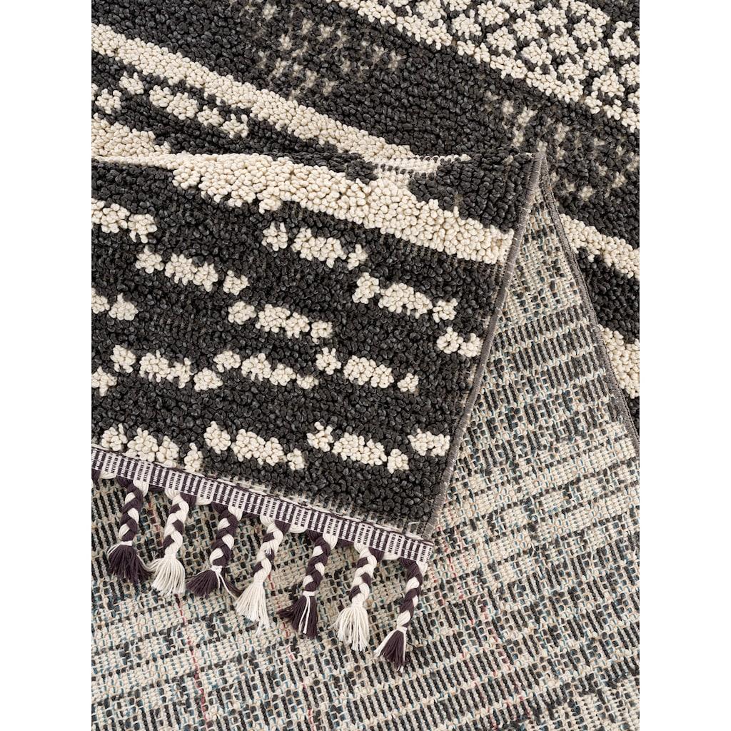 andas Teppich »David«, rechteckig, 18 mm Höhe, In- und Outdoorgeeignet, Wohnzimmer