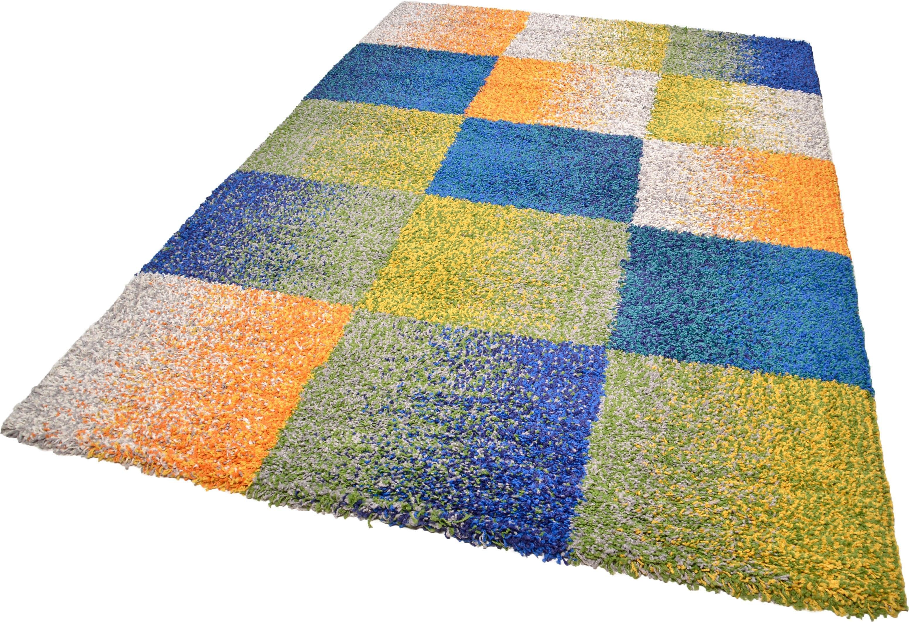 Hochflor-Teppich Color Shaggy 114 THEKO rechteckig Höhe 35 mm handgewebt