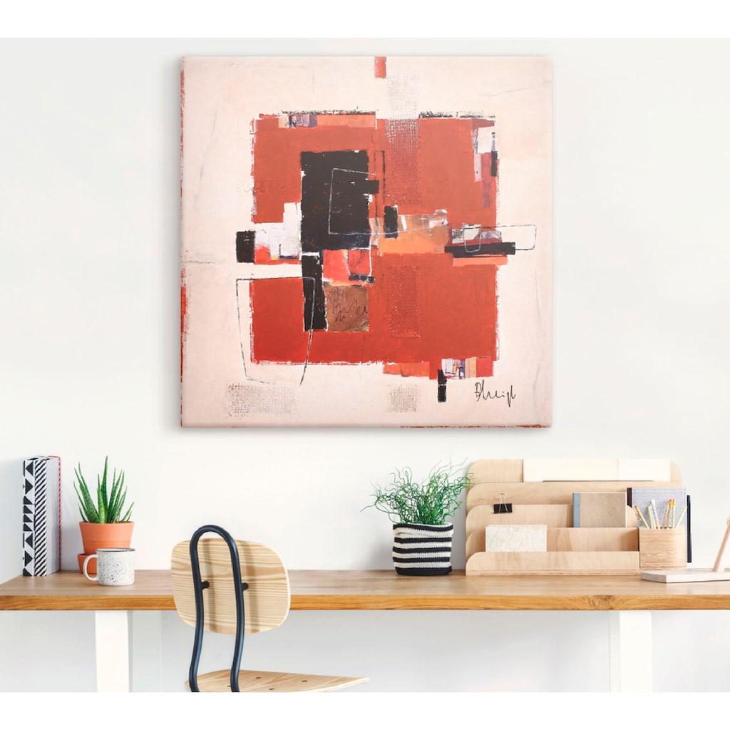 Artland Wandbild »Italienisches Herbstlaub«, Muster, (1 St.), in vielen Größen & Produktarten -Leinwandbild, Poster, Wandaufkleber / Wandtattoo auch für Badezimmer geeignet