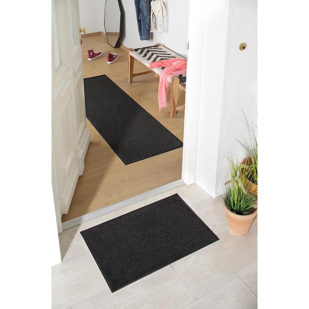 DELAVITA Fußmatte »Lavea«, rechteckig, 9 mm Höhe, Schmutzmatte, Uni Schmutzfangmatte, In- und Outdoor geeignet