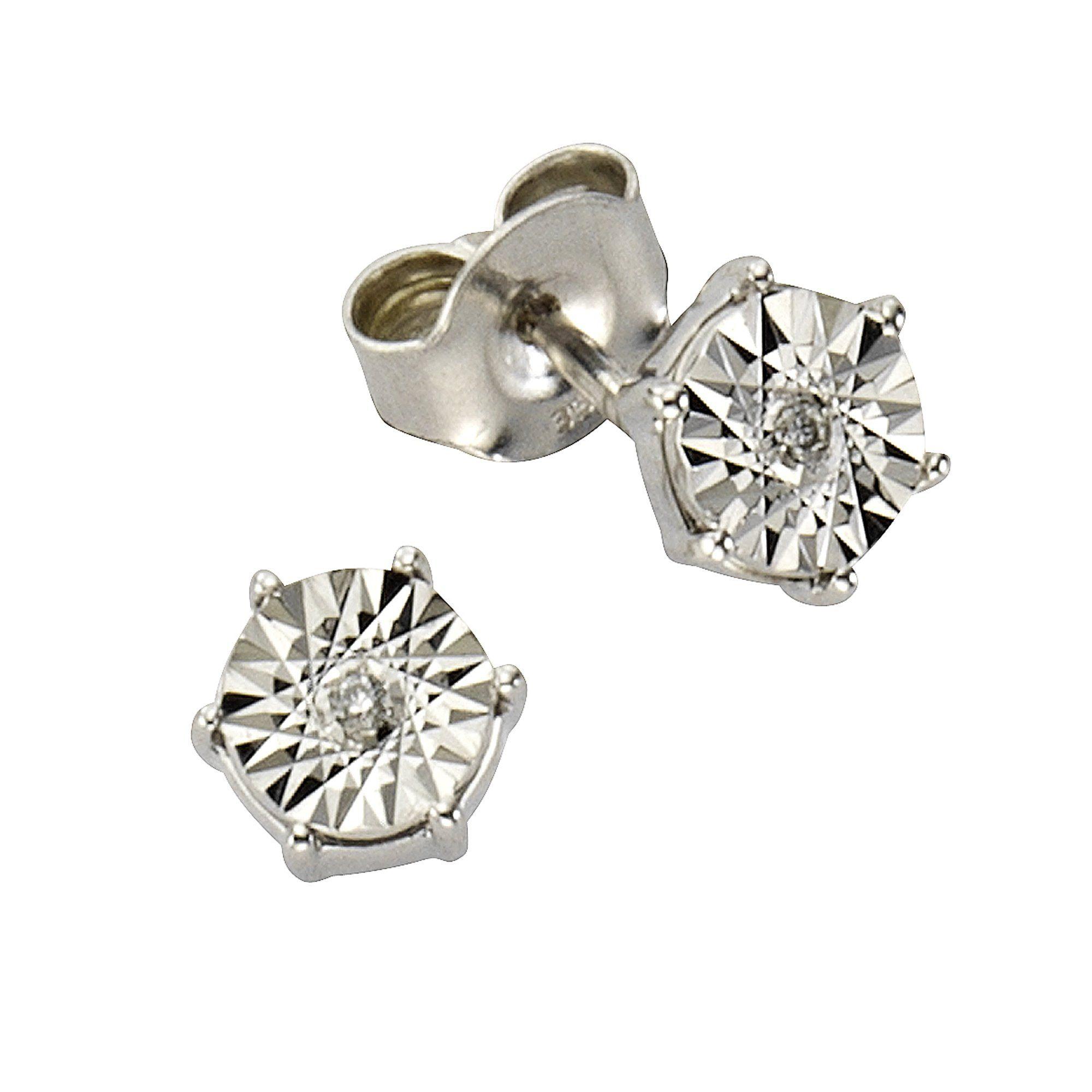 Diamonds by Ellen K Ohrstecker 333/- Weißgold Brillant 002ct | Schmuck > Ohrschmuck & Ohrringe > Ohrstecker | Weiß | Diamonds By Ellen K.