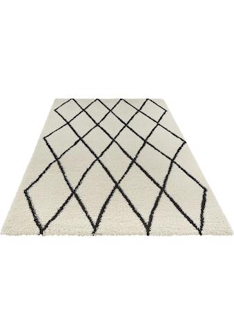 freundin Home Collection Hochflor-Teppich »Truth«, rechteckig, 35 mm Höhe, Langflor mit Skandi Look, Wohnzimmer kaufen