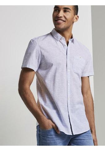 TOM TAILOR Denim Kurzarmhemd »Fein gestreiftes Kurzarmhemd mit Brusttasche« kaufen