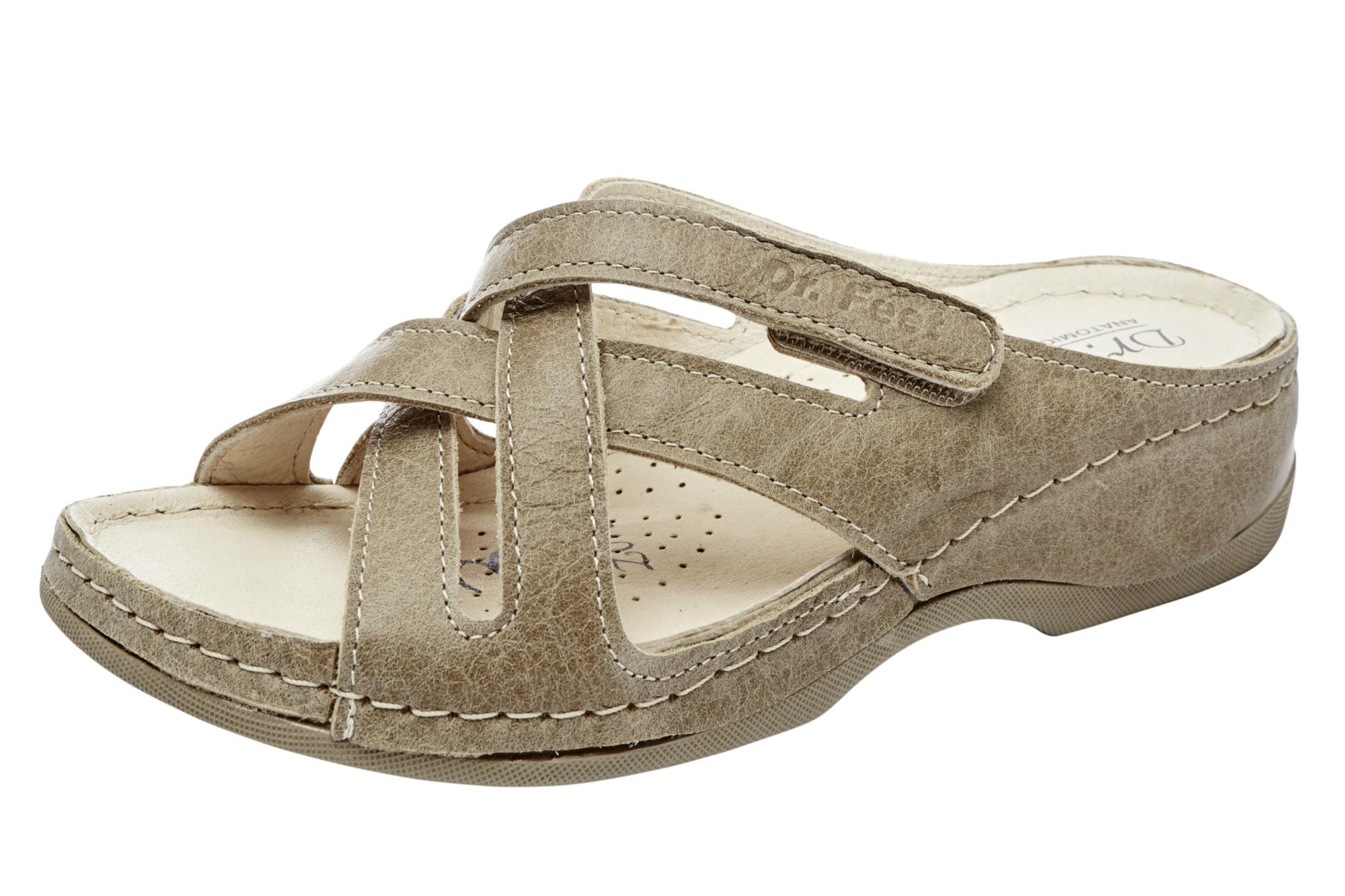 heine home Hausschuhe mit Klettverschluss Damenmode/Schuhe
