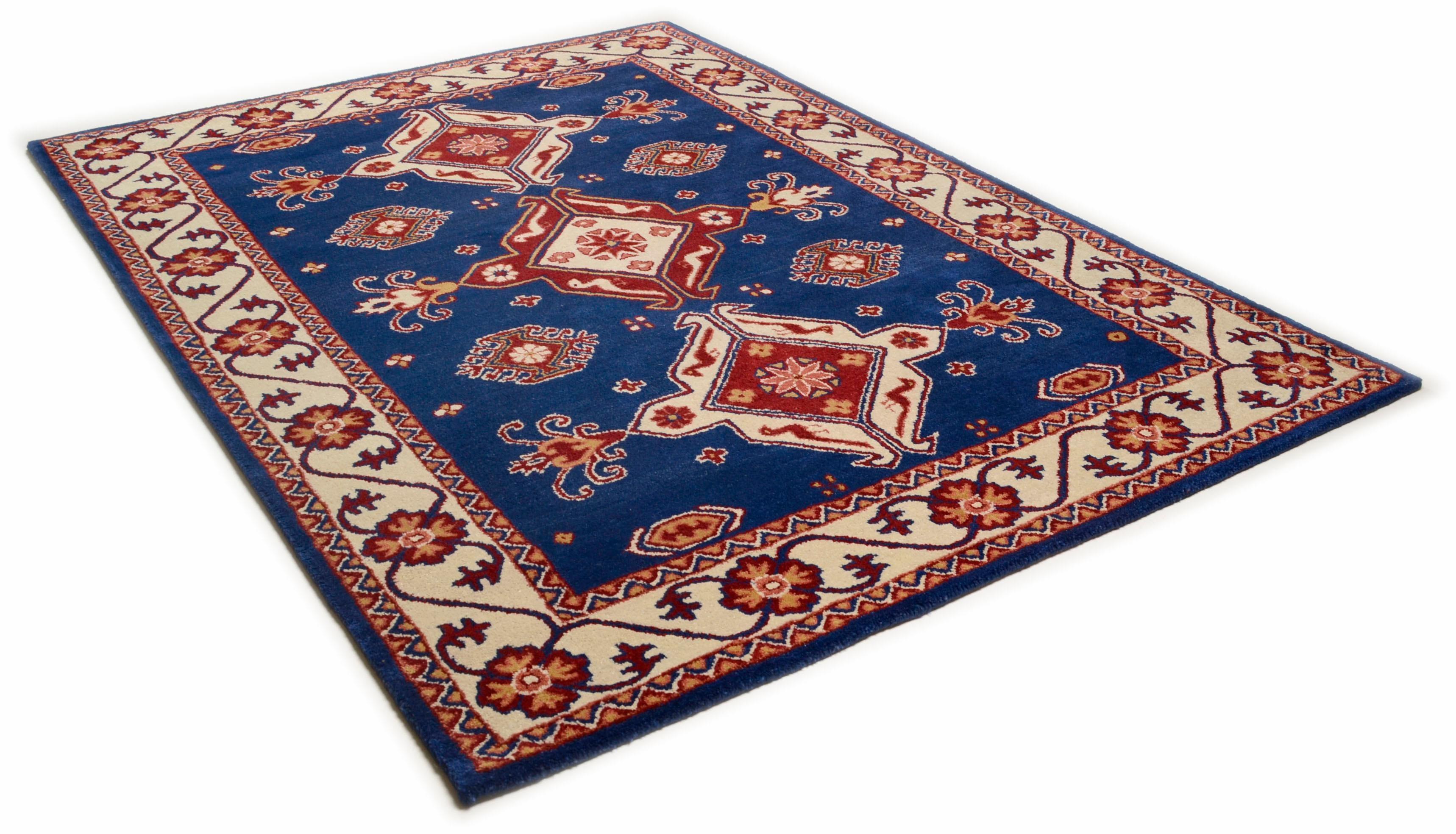 Orientteppich Royal Kazak THEKO rechteckig Höhe 14 mm handgetuftet