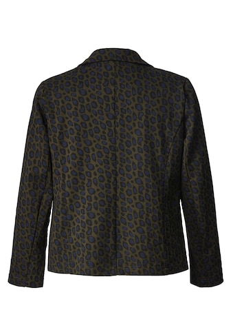 Sara Lindholm by Happy Size Jersey-Blazer mit Leo-Print kaufen