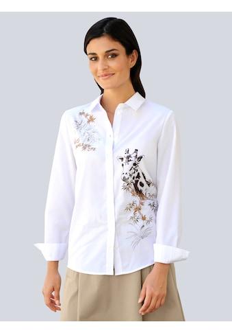 Alba Moda Hemdbluse, mit Motivprint und Stickerei kaufen
