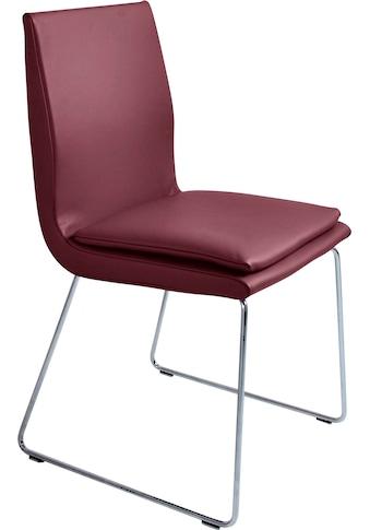 K+W Komfort & Wohnen Esszimmerstuhl »Creso«, mit Sitzkissen und Rundrohrkufe in... kaufen