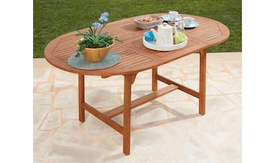MERXX Gartentisch »Maracaibo«, Eukalyptusholz, ausziehbar, 170x100 cm, braun kaufen