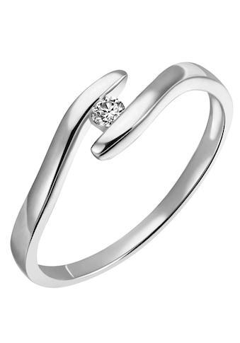 Firetti Diamantring »Solitär, elegant, mit Spannfassung, rhodiniert, Glanz, massiv«,... kaufen