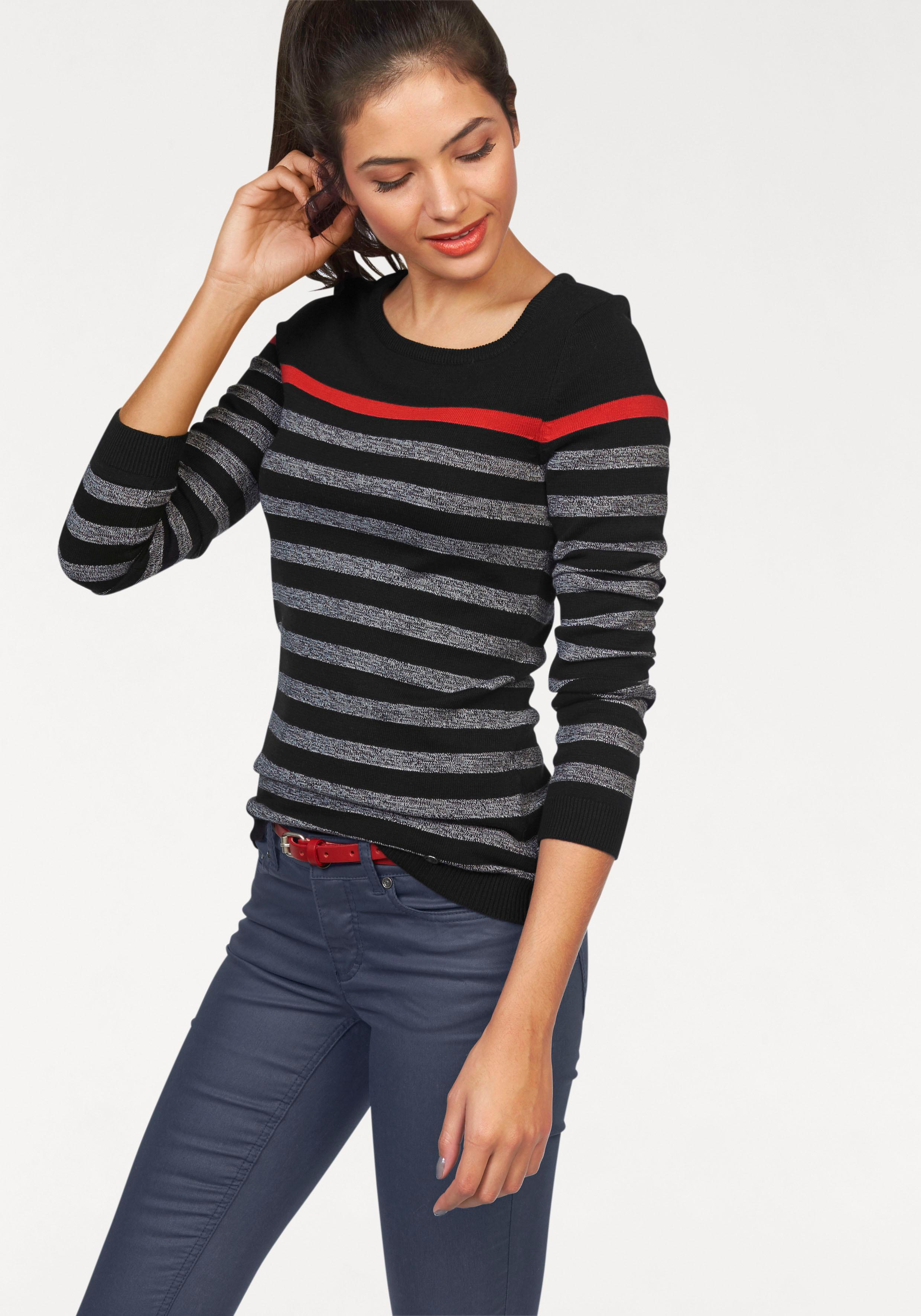 AJC Streifenpullover | Bekleidung > Pullover > Streifenpullover | Schwarz | Ajc