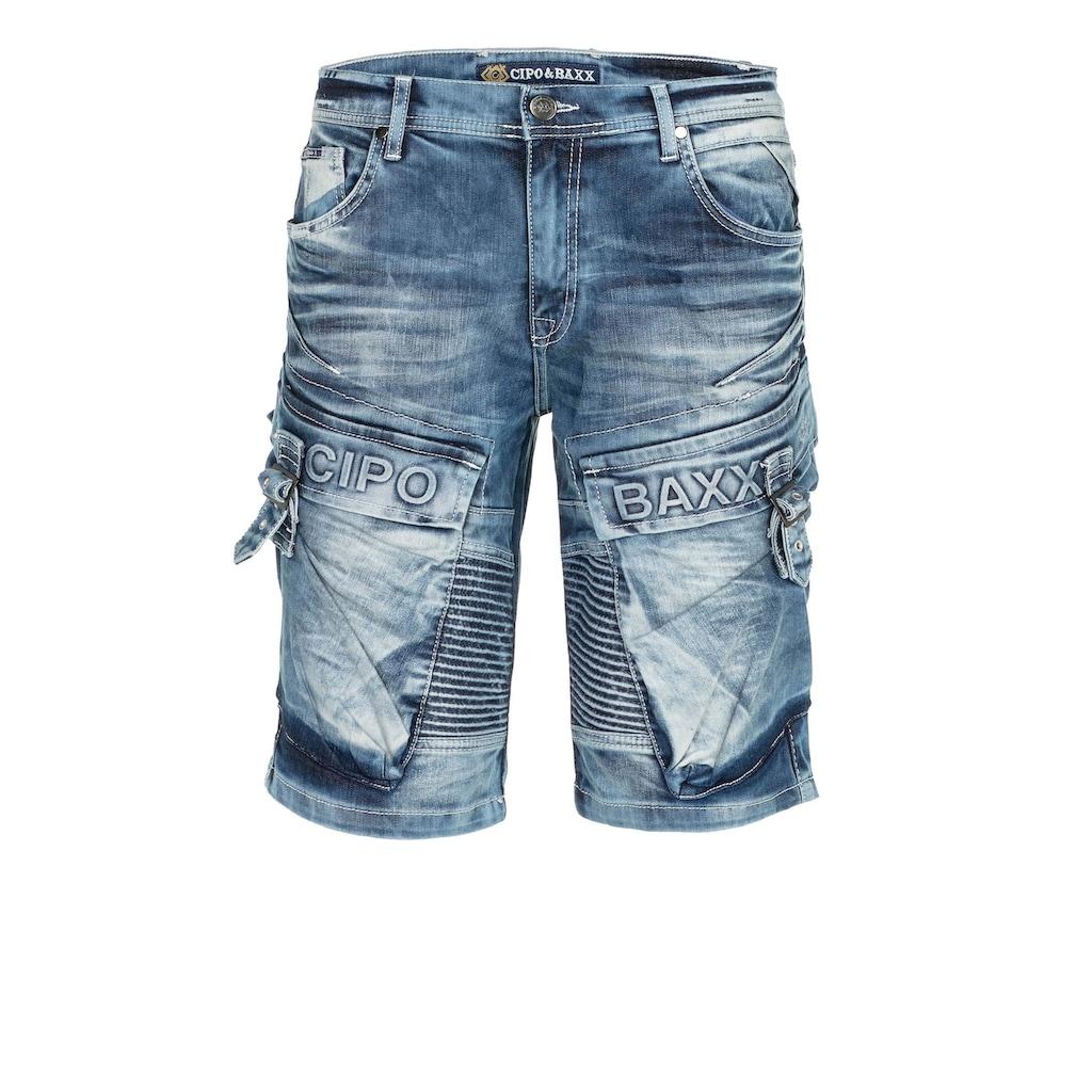 Cipo & Baxx Shorts, mit lässigem Rippenmuster