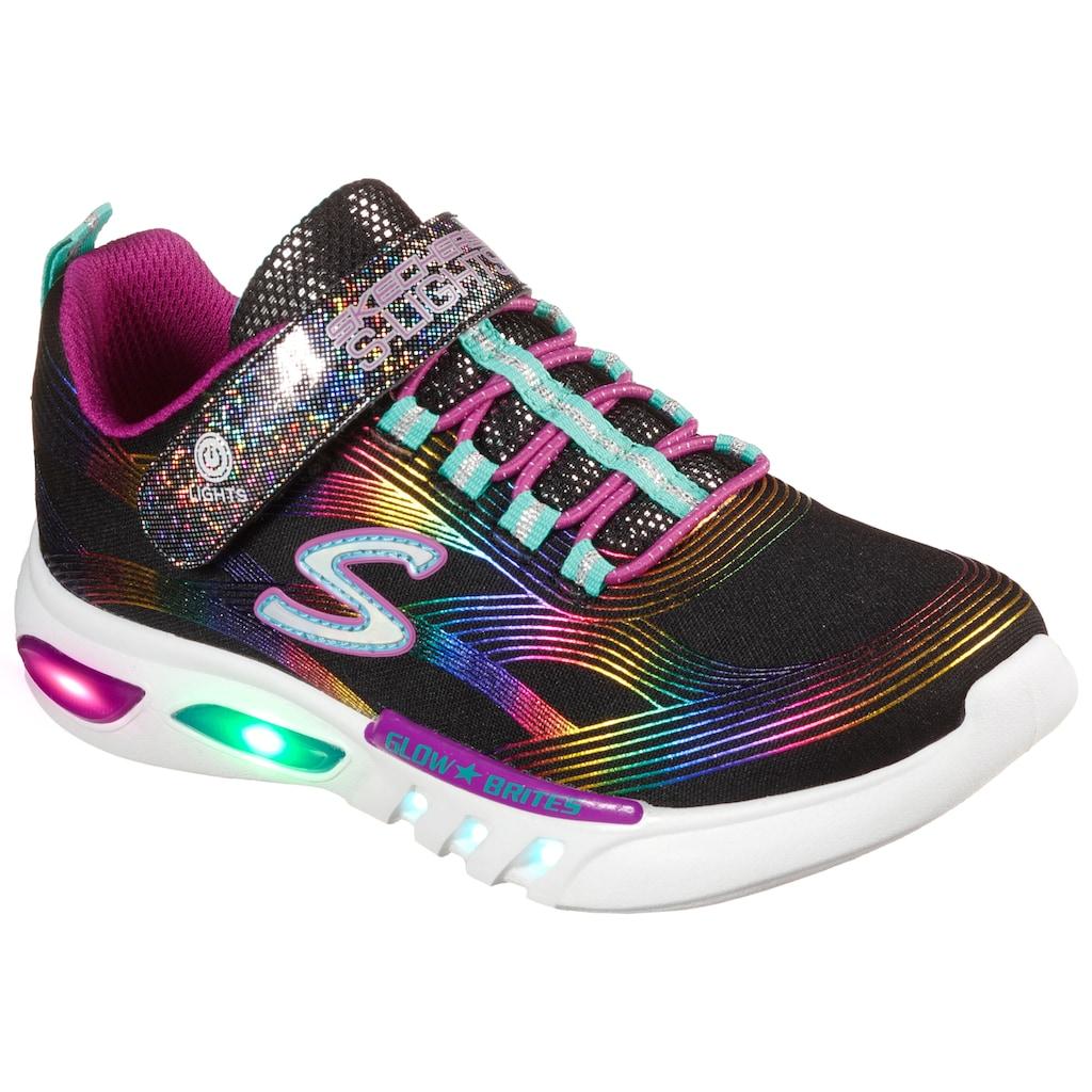 Skechers Kids Sneaker »GLOW-BRITES«, mit glitzerndem Klettverschluss