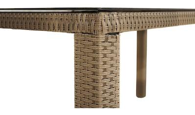 PLOSS Gartentisch »Rabida«, Polyrattan, 170x75x90 cm kaufen