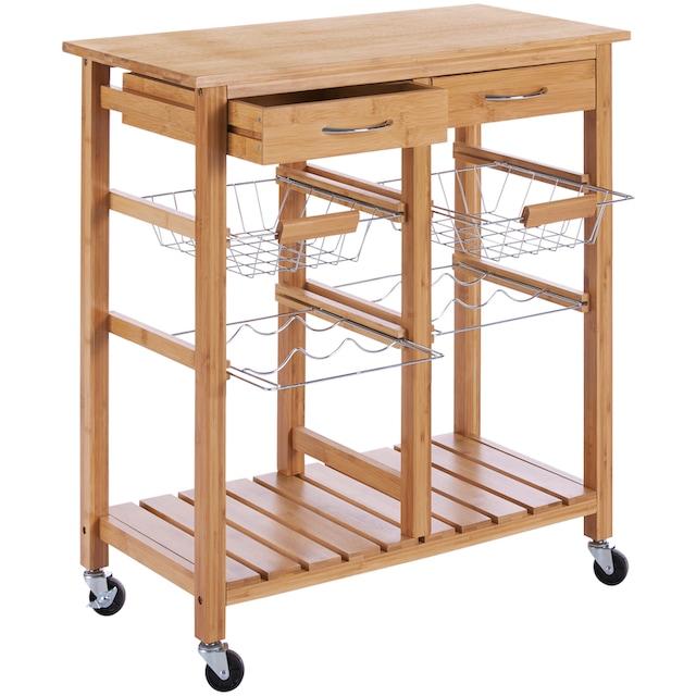 Küchenrollwagen »Bambus«, 72 x 37 x 76 cm