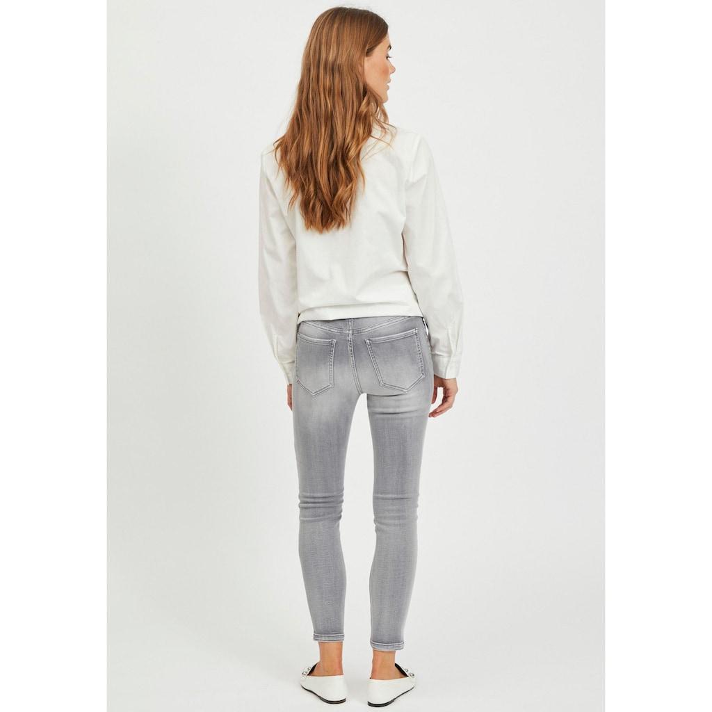Vila 7/8-Jeans »VIEKKO«, mit modischen Used Effekten