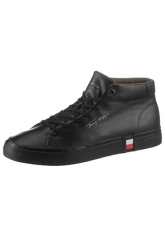 Tommy Hilfiger Sneaker »CORPORATE HIGH MODERN VULC LEA«, mit Tommy Flag kaufen