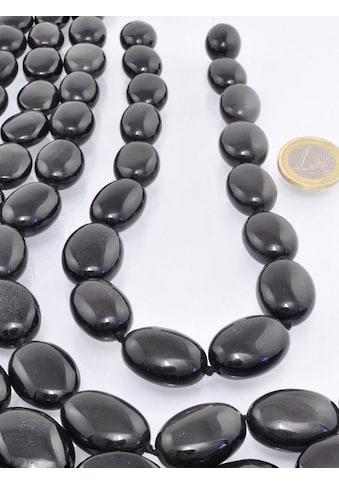 Adelia´s Kette ohne Anhänger »Edelstein Regenbogen Obsidian Stein Strang ohne Schließe« kaufen
