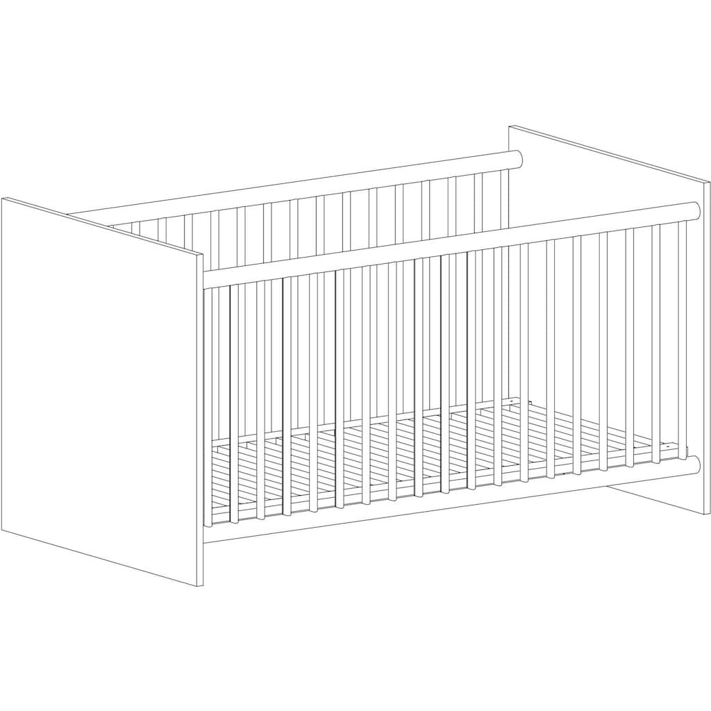 arthur berndt Babyzimmer-Komplettset »Isabella«, (Set, 4 St.), Made in Germany; mit Kinderbett, Regal, Schrank und Wickelkommode