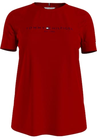 Tommy Hilfiger Rundhalsshirt »TH ESS HILFIGER C-NK REG TEE SS«, mit Tommy Hilfiger... kaufen