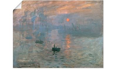 Artland Wandbild »Impression (Sonnenaufgang). 1872«, Gewässer, (1 St.), in vielen... kaufen