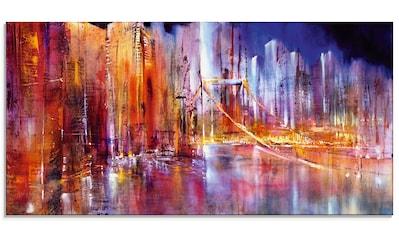 Artland Glasbild »Stadtansicht II«, Brücken, (1 St.) kaufen