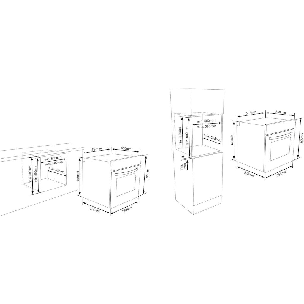 Sharp Pyrolyse Backofen »K-61V28IM1-EU«, K-61V28IM1-EU, Pyrolyse-Selbstreinigung